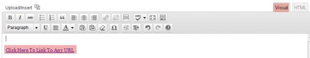 Creating Links In WordPress Editor
