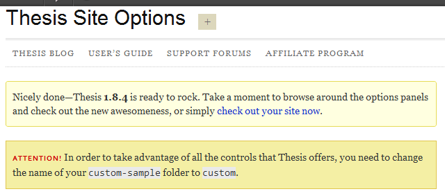 Thesis Site Options
