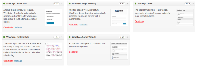 WooDojo Bundled Features