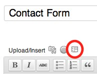 Create & Insert a Contact Form in WordPress