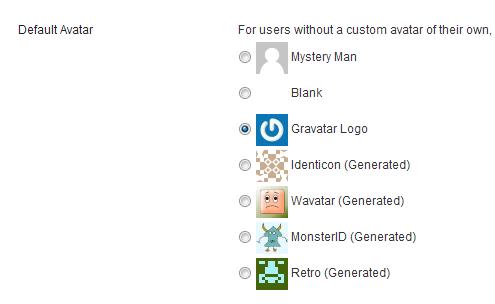 Default WordPress Avatars