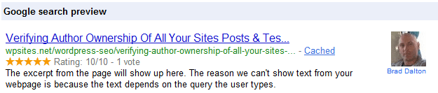 Google Search Rich Snippet
