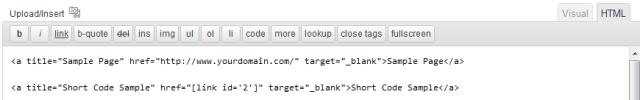 url versus shortcode