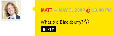 Matt Mullenweg Comments on P2 theme