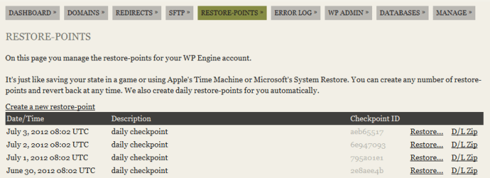 WP Engine Customer Portal