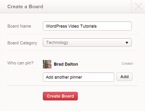 Create a New Board in Pinterest