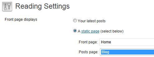 Front Page Displays Static Page