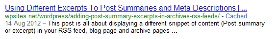 SERPS Snippet