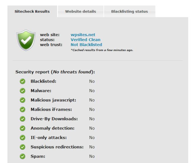 Sucuri SiteCheck  - Free Website Malware Scanner