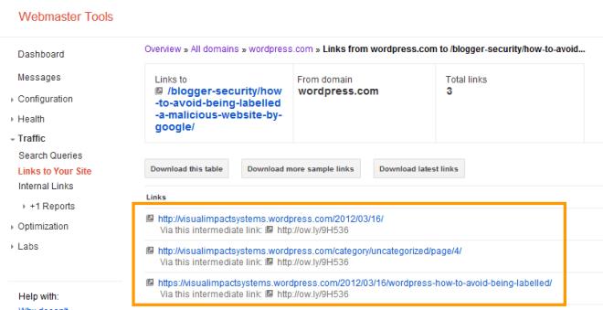 WordPress.com Links to Your Site