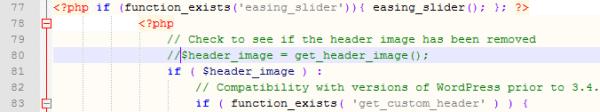 Add Slider Code To Header PHP 2011