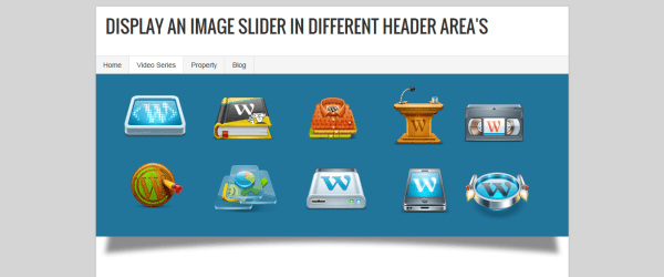 Display An Image Slider In Different Header Area's - Example 3