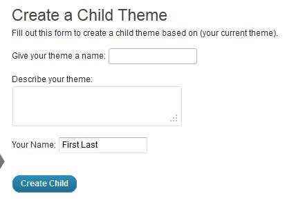 Make a Child Theme