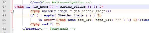 Twenty Twelve Header PHP