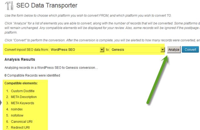 SEO Data Transportor Settings