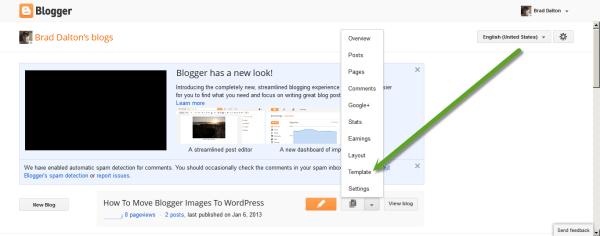Click Blogger Template