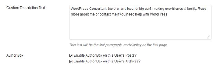 custom author description