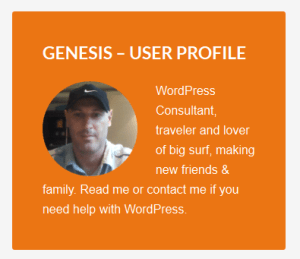 genesis user profile widget styling