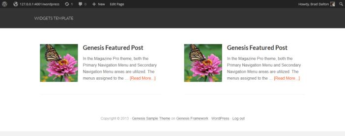 genesis featured posts widget