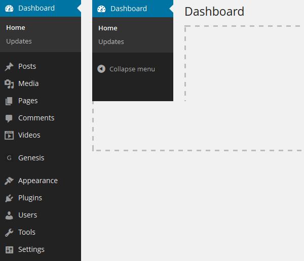 remove wp admin menu items