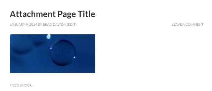 Attachment Page Title