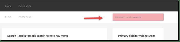 add search form to nav menu