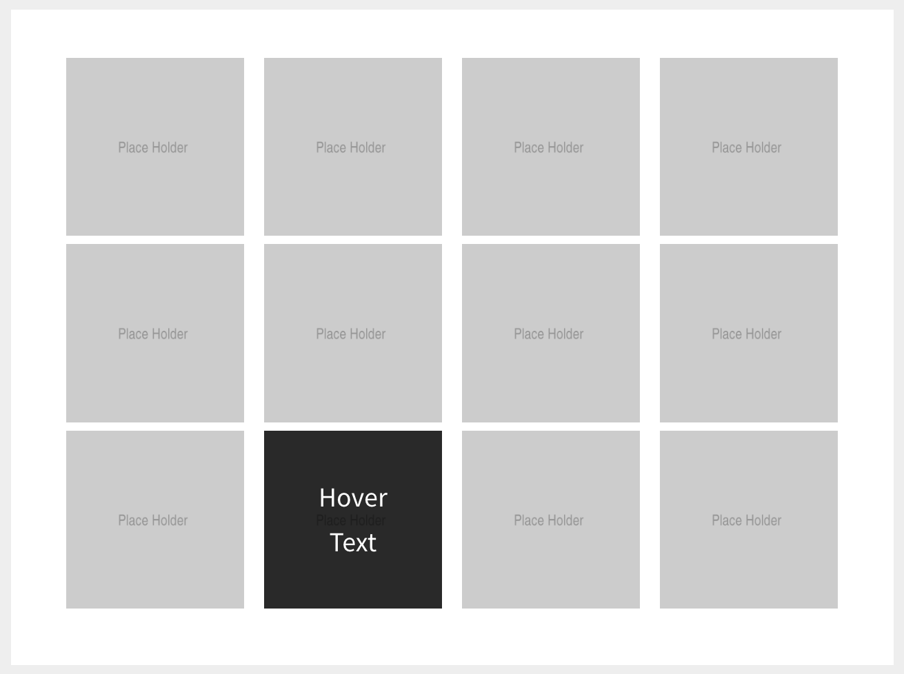 Custom Field Grid With Image Hover Overlay Effect In
