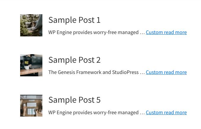 Custom Genesis Archive Template