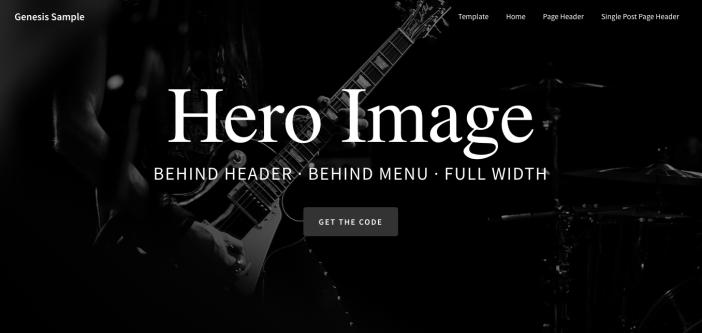 Genesis Sample Theme Hero Image Behind Site Header