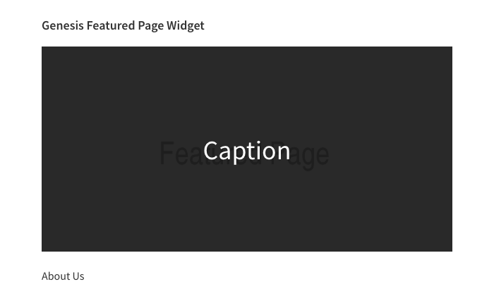 Genesis Featured Page Widget - Featured Image Hover Overlay Content