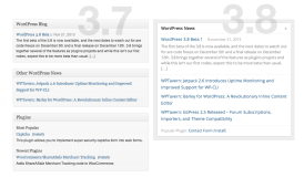 WordPress Dashboard (3.8) - News/Plugins