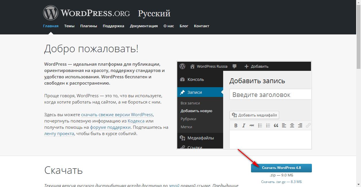 Вордпресс загрузить на хостинг как поставить сервер на бесплатный хостинг samp