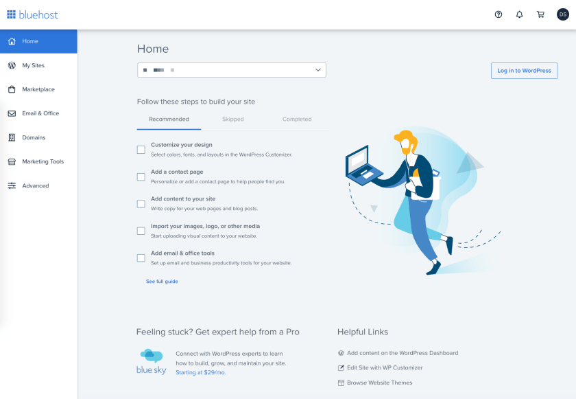 Bluehost Suggestions