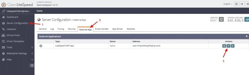 OpenLiteSpeed PHP Processor