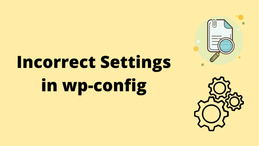 Incorrect Settings in wp-config