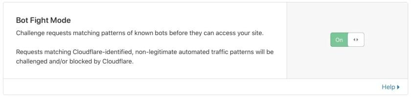 Bot Fight Mode