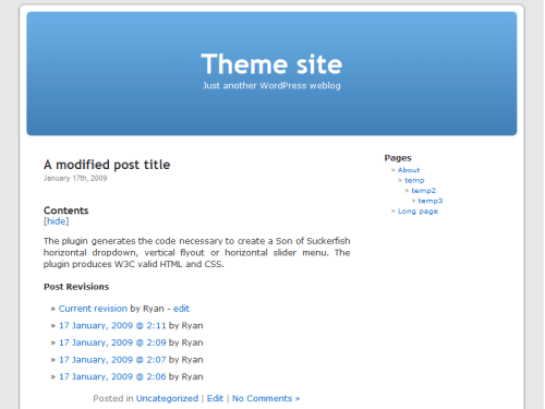 WordPress Wiki post view