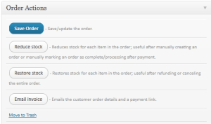 WooCommerc Order Actions