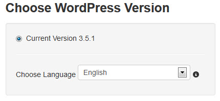 WPRoller Choosing Which Version Of WordPress To Install