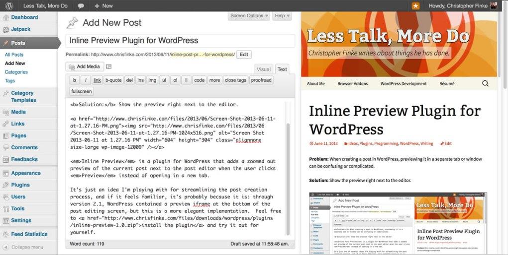 Inline Preview Screenshot