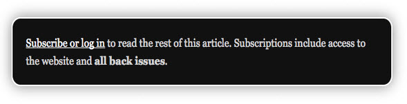 Subscribe Box CSS