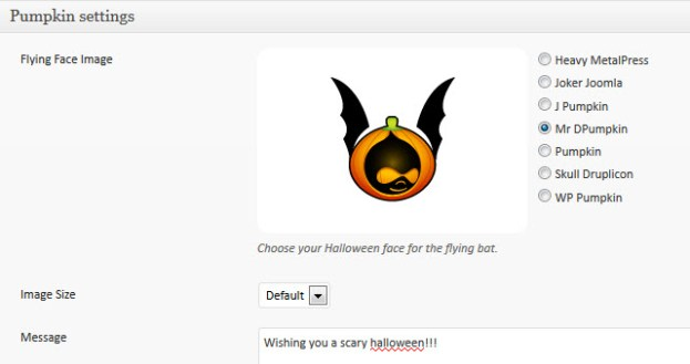 DW Halloween Plugin Settings
