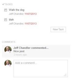 Adding Comments Or Tasks