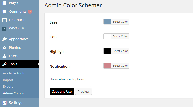 admin-color-schemer