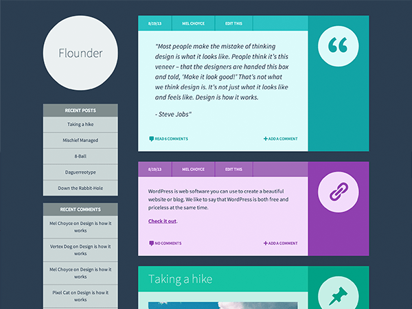 Flounder WordPress theme