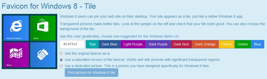 Windows 8 Favicon Tile
