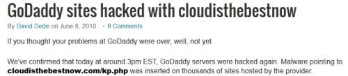 GoDaddy Hacked In 2010