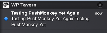 Push Monkey Site Notification