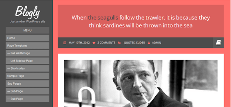 Blogly: A Free Personal Blogging Theme For WordPress