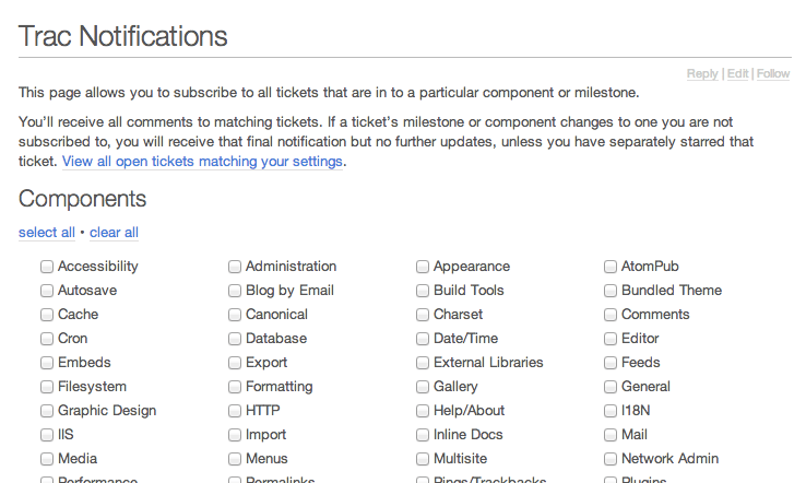 Coming Soon: Ability to subscribe to components
